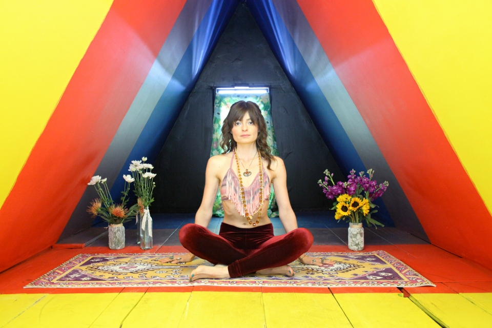 SS14 Lookbook for Magic Carpet Yoga Mats  Photography: Karen Doolittle Model: Sierra Mable Hair and Make-Up: Jenna Feldman Styling: Magic Carpet Yoga Mats