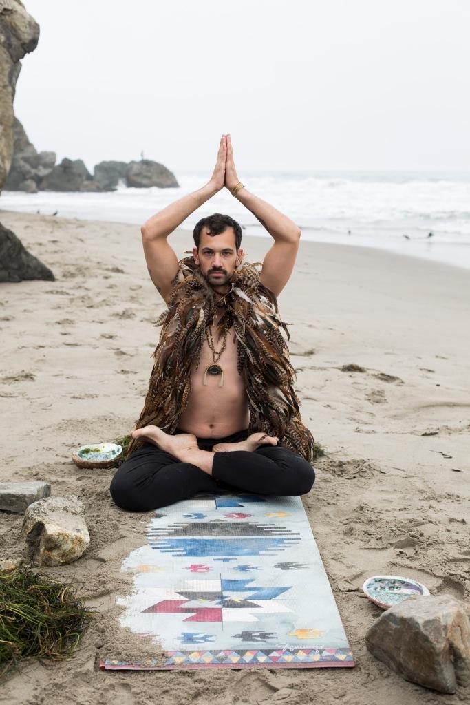 """MAGIC MAN"" Stinson Beach, CA Elizabeth Hurley Photography Styled by Magic Carpet Yoga Mats"
